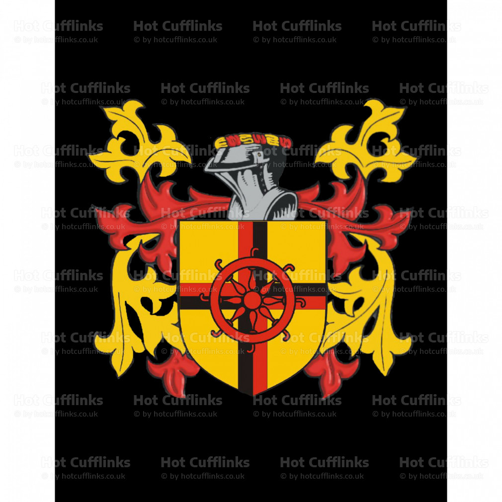 Select Gifts Iles Ireland Family Crest Surname Coat Of Arms Cufflinks Personalised Case