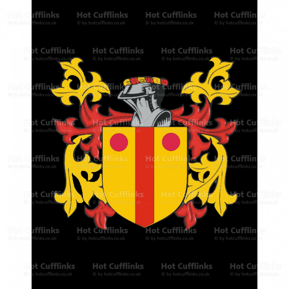 Select Gifts Macmeeking Ireland Family Crest Surname Coat Of Arms Cufflinks Personalised Case