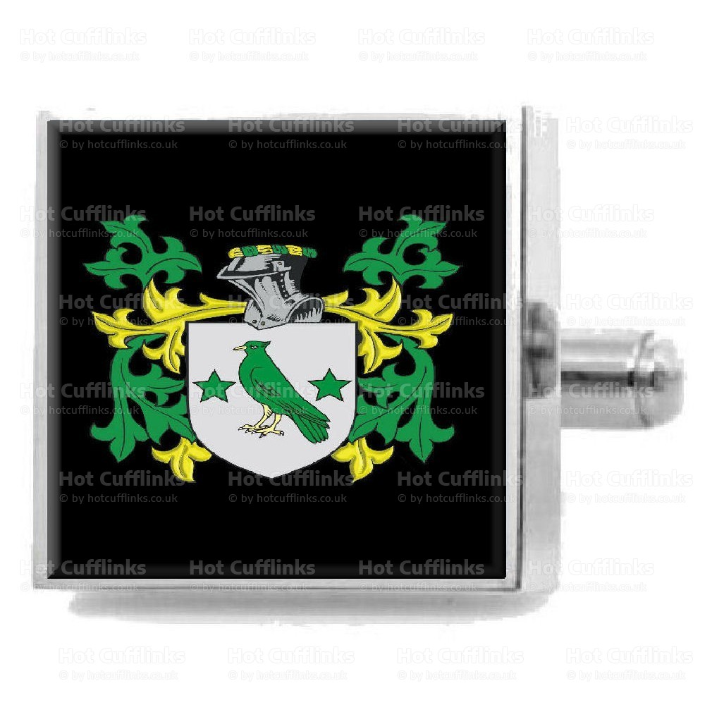 Select Gifts OReilly Ireland Family Crest Surname Coat Of Arms Cufflinks Personalised Case