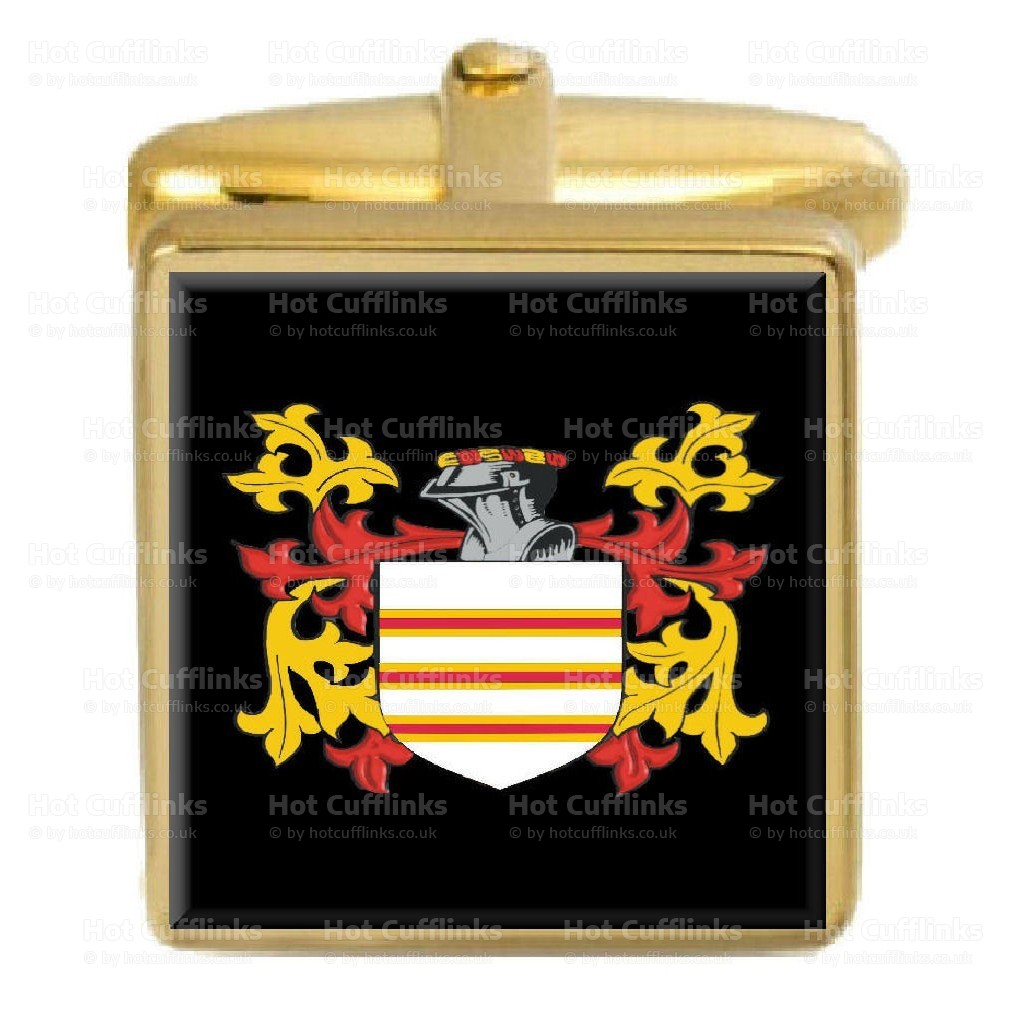 Curran Family Crest Surname Coat Of Arms Brown Leather Keyring Engraved