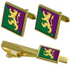 Army Cufflinks & Tie Clip Set
