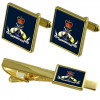 Royal Navy Cufflinks & Tie Clip Set